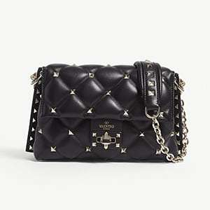 Candy Rockstud leather cross-body bag