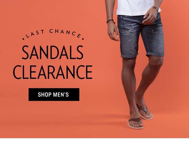 Men's Sandals Clearance