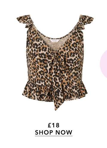 PETITE Leopard Print Camisole Top