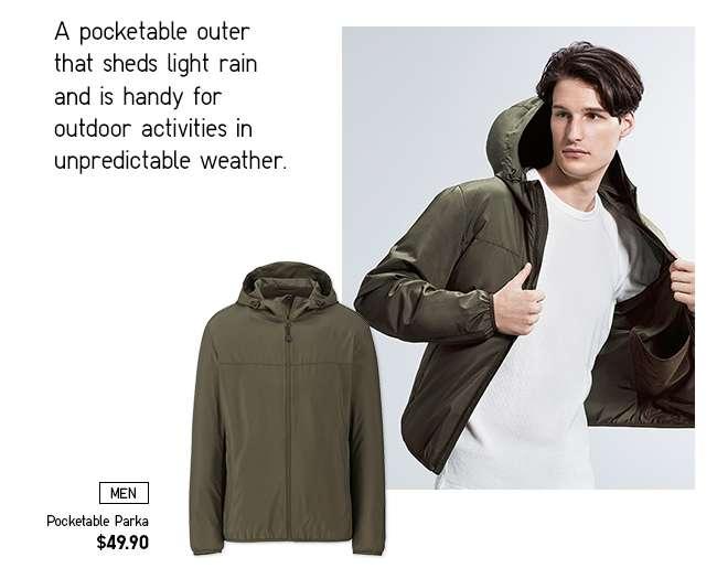 Men's Pocketable Parka at $49.90