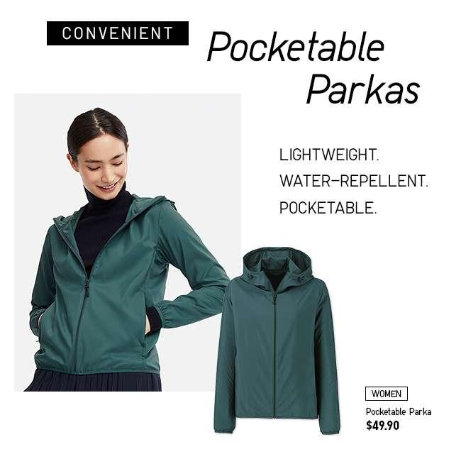 Women's Pocketable Parka at $49.90
