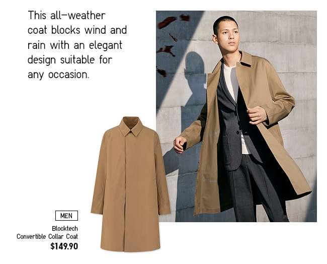 Men's Blocktech Convertible Collar Coat at $149.90