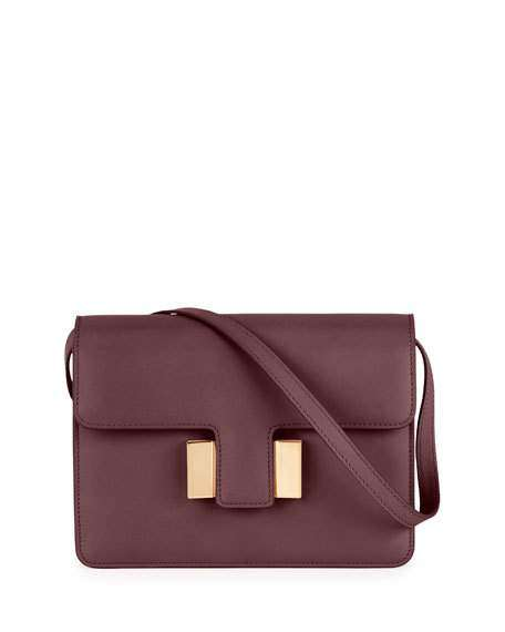 Sienna Small T-Buckle Crossbody Bag, Wine