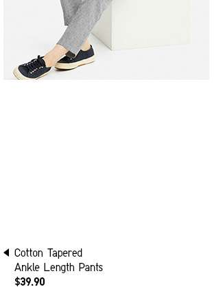 Shop Women's Cotton Tapered Ankle Length Pants at $39.90