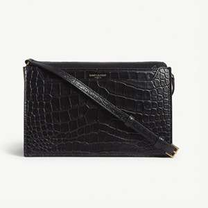 Catherine croc-embossed satchel