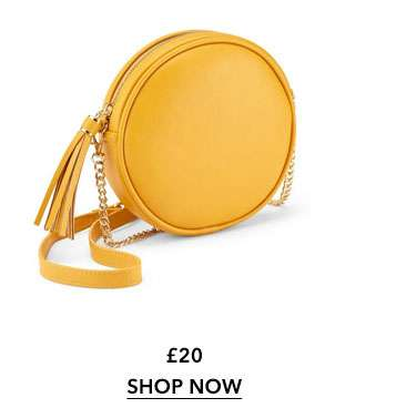 Ochre Circle Cross Body Bag