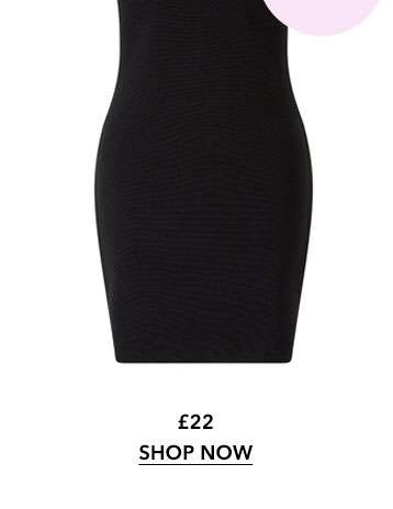 PETITE Black Asymmetric Going Out Bodycon Dress