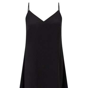 Black Tailored Slip Dress