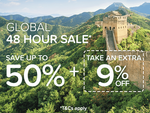 Global 48 Hour Sale* Save up to 50% + take an extra 9% off