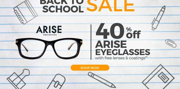 Go back in style with Back to School sales! Great eyewear deals for students of all ages ðŸ«