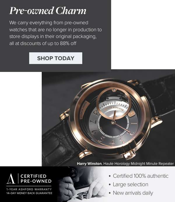 One day sale! Take additional 21% off  on all Pre-Owned watches*  SAVE TODAY Use code: PO24SALE