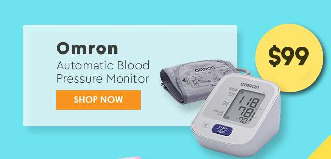 Click here to shop Omron Automatic Blood Pressure Monitor