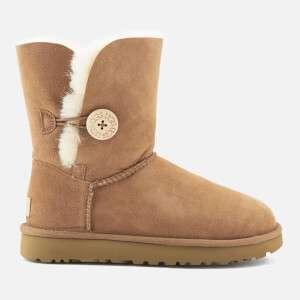 UGG Women's Bailey Button II Sheepskin Boots - Chestnut