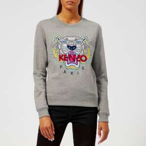 KENZO Women's Classic Tiger Molleton Sweatshirt - Grey