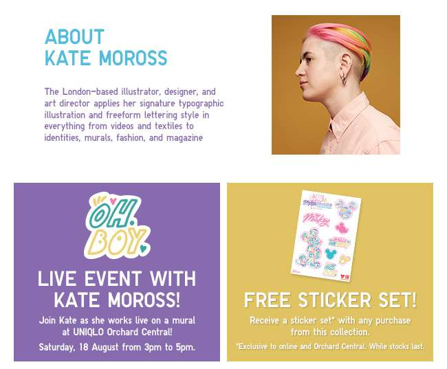 About Kate Moross and her live event