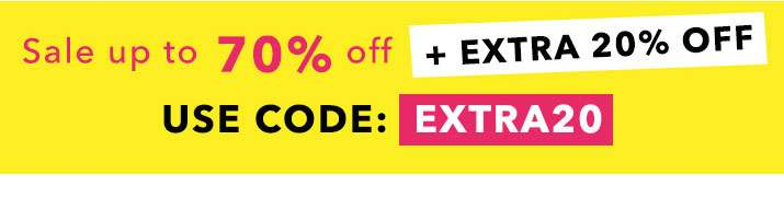 Sale Up To 70% Off + Extra 20% Off