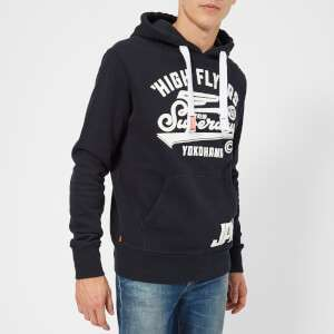 Superdry Men's High Flyers Hoody - Eclipse Navy