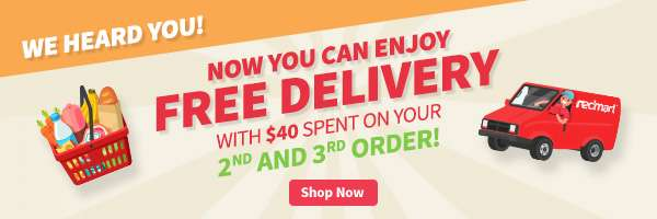 Now you can enjoy FREE delivery with $40 spent on your 2nd or 3rd order!
