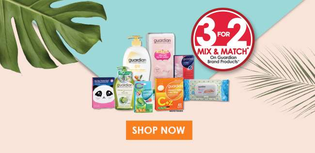Shop 3 For 2 Mix & Match on Guardian Brand Products!