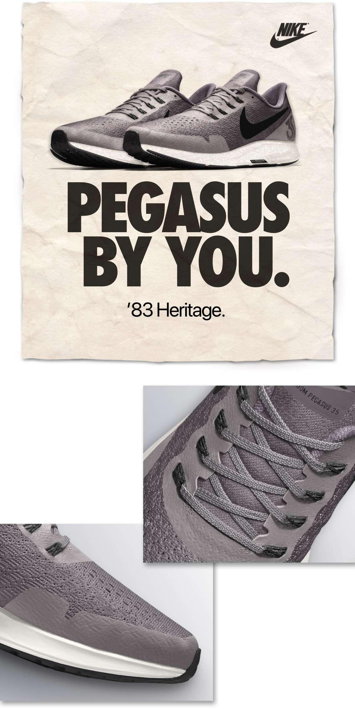 NIKE | PEGASUS BY YOU. | '83 Heritage.