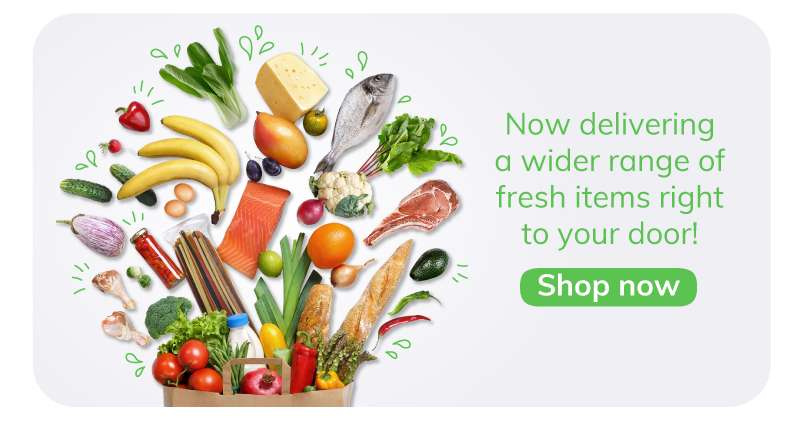 Wide range of fresh items