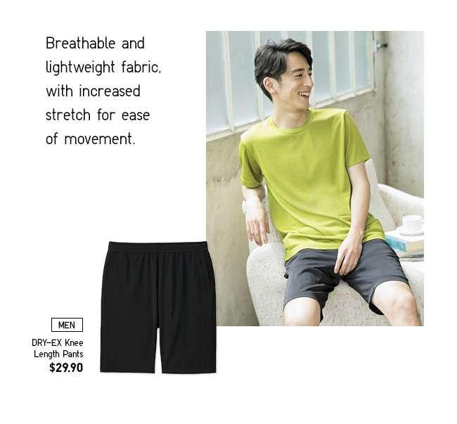 Men's DRY-EX Knee Length Pants at $29.90