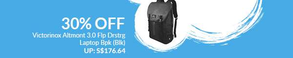 31 August: 30% Off Victorinox Altmont 3.0 Flp Drstg Laptop Bpk