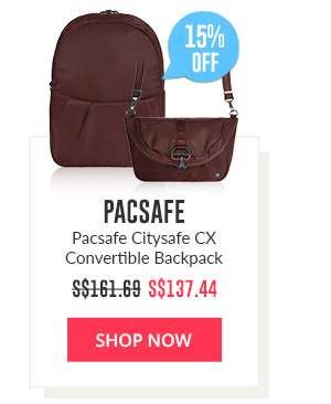 Shop Now: Pacsafe Citysafe CX Convertible Backpack