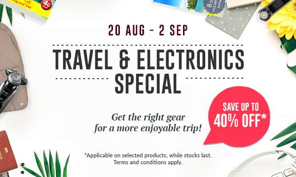20 Aug - 2 Sept Travel & Electronics Special