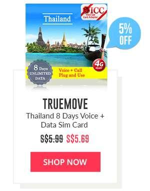 Shop Now: TrueMove Thailand 8 Days Voice + Data Sim Card