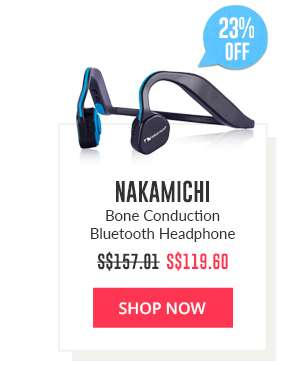 Shop Now: Nakamichi Bone Conduction Bluetooth Headphone