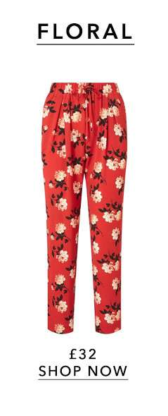 Floral and Striped Side Joggers