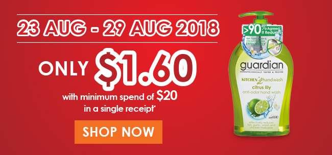$1.60 PWP Guardian Handwash offer