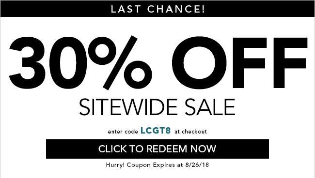 30% off + 80% dept. store prices