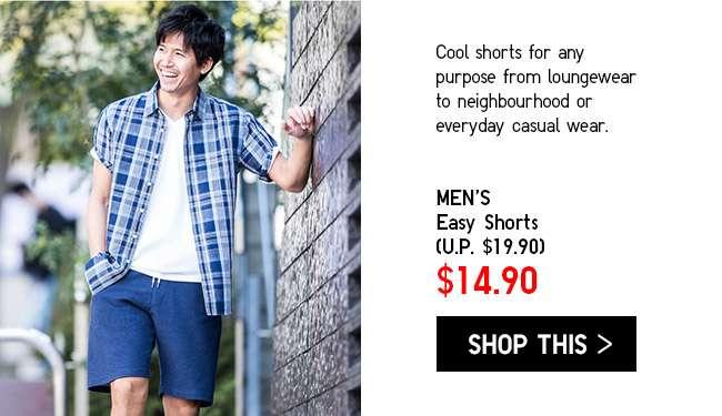 Limited Offer! Men's Easy Shorts at $14.90
