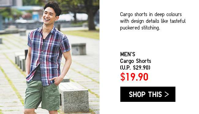 Limited Offer! Men's Cargo Shorts at $19.90
