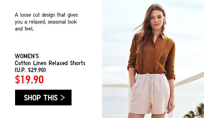 Limited Offer! Women's Cotton Linen Relaxed Shorts at $19.90