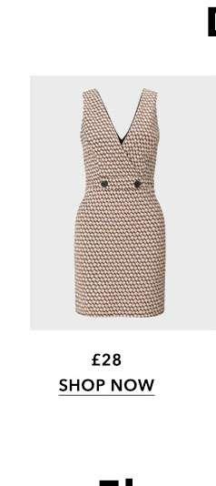 Rust Tile V-Neck Pinafore Dress