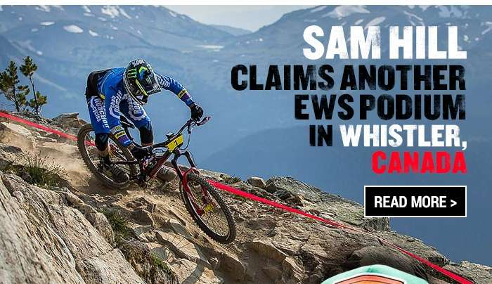 Sam Hill claims another EWS podium in Whistler, Canada