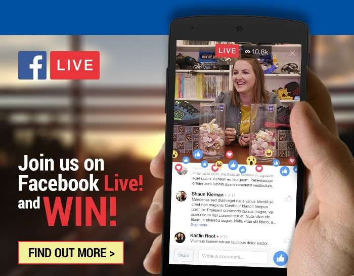 Join us and win on Facebook Live