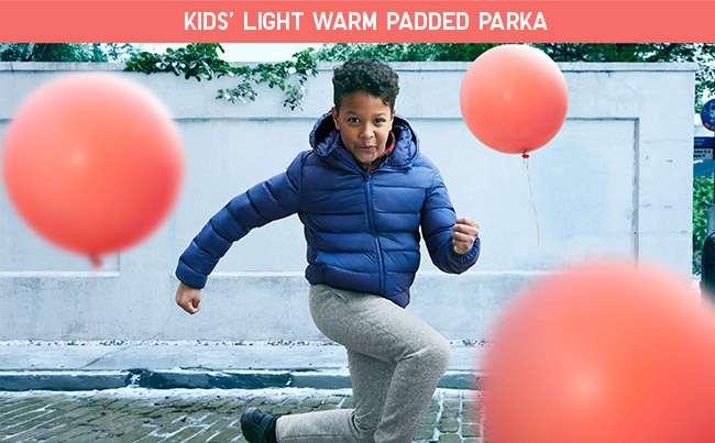 Boy's Light Warm Padded Parka