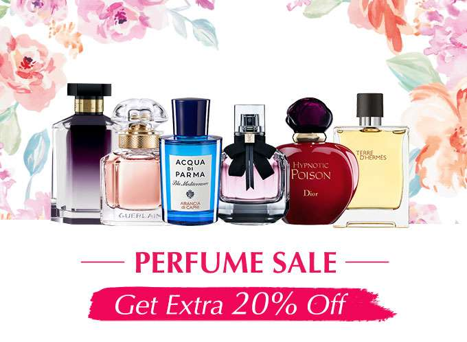 PERFUME SALE: Extra 20% Off All Fragrances! Ends 03 Sep 2018
