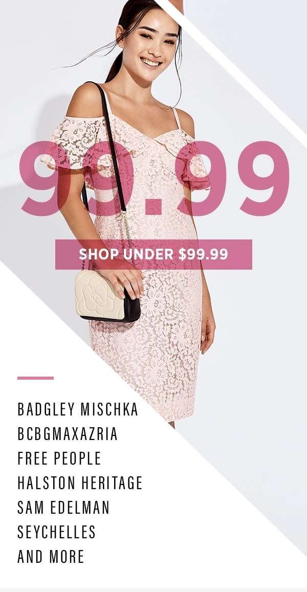 Shop Under $99.99