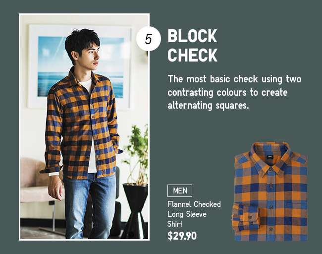 Men's Flannel Checked Long Sleeve Shirt