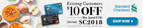 $10 OFF for existing customers with Standard Chartered!