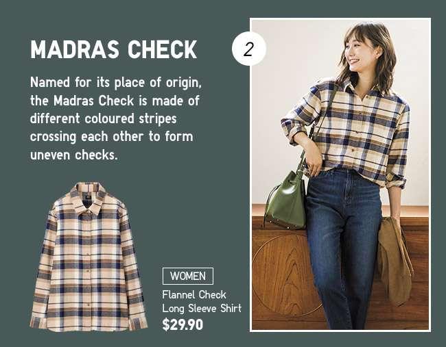 Women's Flannel Check Long Sleeve Shirt