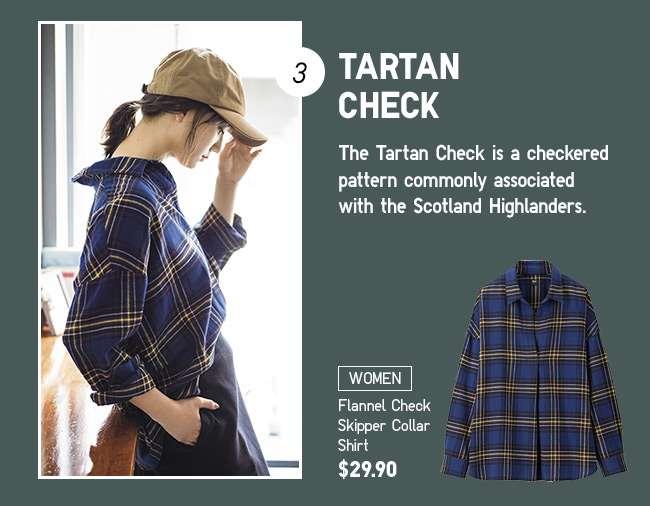 Women's Flannel Check Skipper Collar Shirt