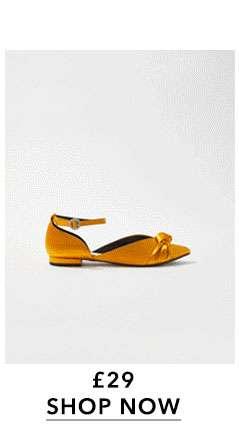 FLYNN Satin Bow Shoes