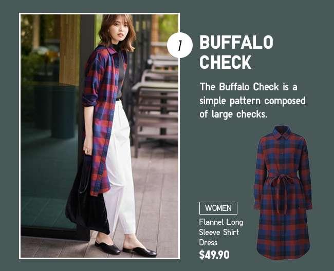 Women's Flannel Long Sleeve Shirt Dress
