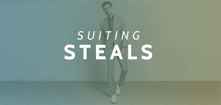 Up to 75% Off Tailored Suiting
